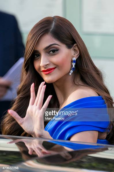 Sonam Kapoor is seen at the Grand Hyatt Cannes Hotel Martinez during the 68th annual Cannes Film Festival on May 16 2015 in Cannes France