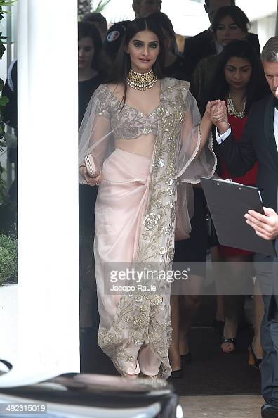 Sonam Kapoor is seen leaving Hotel Martinez on day 6 of the 67th Annual Cannes Film Festival on May 19 2014 in Cannes France