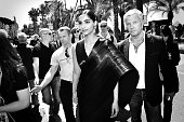 Sonam Kapoor meet with fan during a L'Oreal gifting event outside the Martinez Hotel during the 69th annual Cannes Film Festival on May 12 2016 in...