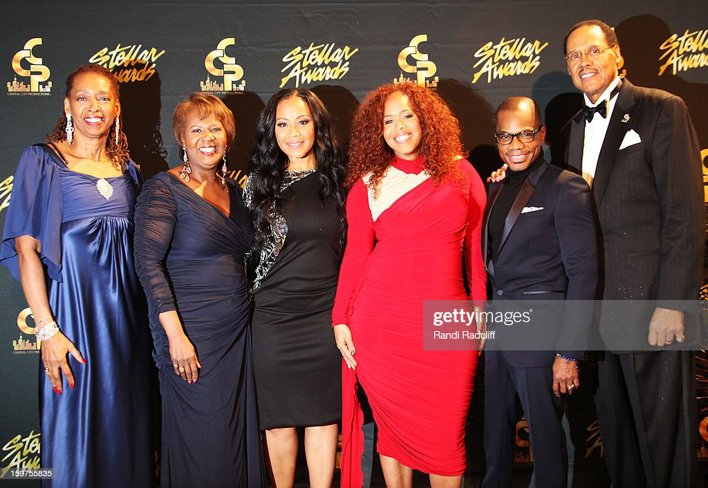 Sondra Crouch. Central City Productions President & COO Erma Davis, Mary Mary, Kirk Franklin, and Central City Productions Chairman & CEO Don Jackson attend the 28th Annual Stellar Awards Press Room at Grand Ole Opry House on January 19, 2013 in Nashville, Tennessee.