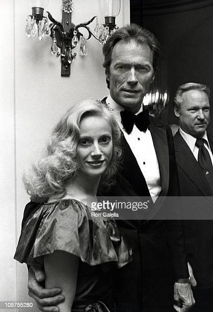 Sondra Locke and CLint Eastwood during 'Firefox' Premiere Cocktail Party at Home of Blanchette Rockefeller in New York City New York United States