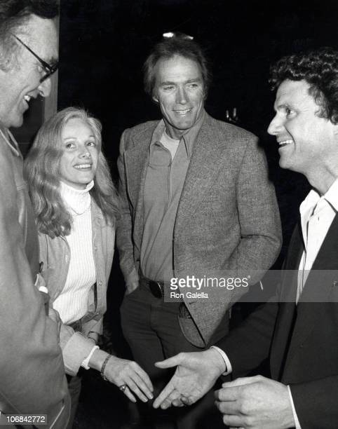 Sondra Locke Clint Eastwood and guests during Clint Eastwood Sighting at Adriano's Restuarant in Beverly Hills January 14 1982 at Adriano's...