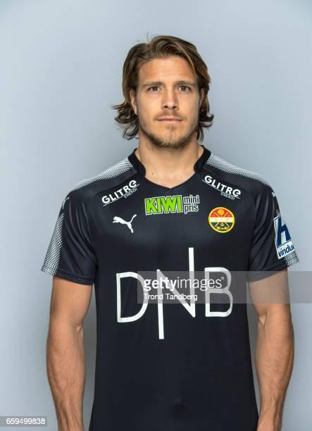 Sondre Johansen of Team Stromsgodset Fotballklubb during Photocall on March 17 2017 in Drammen Norway