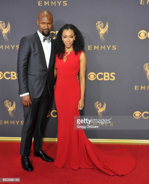 Sonequa MartinGreen and Kenric Green arrive at the 69th Annual Primetime Emmy Awards at Microsoft Theater on September 17 2017 in Los Angeles...