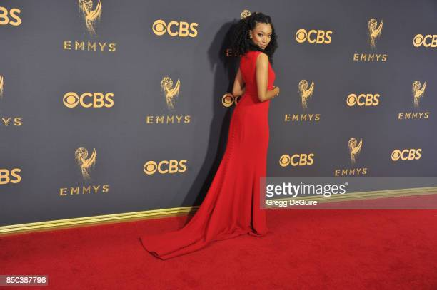 Sonequa MartinGreen arrives at the 69th Annual Primetime Emmy Awards at Microsoft Theater on September 17 2017 in Los Angeles California
