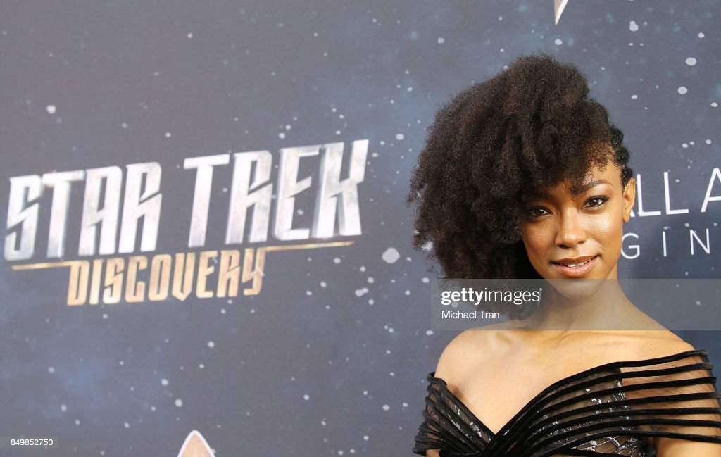 Sonequa Martin-Green attends the Los Angeles premiere of CBS's 'Star Trek: Discovery' held at The Cinerama Dome on September 19, 2017 in Los Angeles, California.
