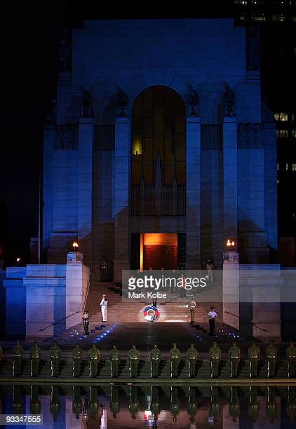 'Song Australia' sing a hymn on the memorial steps as part of the 75th anniversary of the ANZAC Memorial in Hyde Park on November 24 2009 in Sydney...