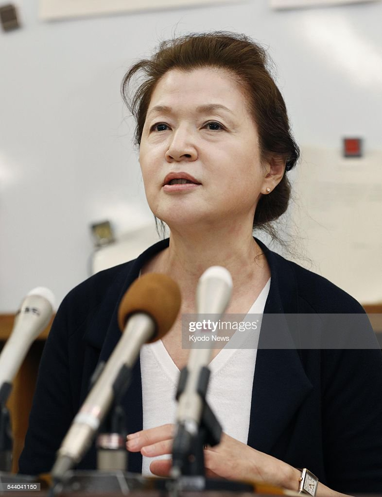 Song Chong Ji, head of an Osaka-based group of Korean residents, speaks at a press conference at the Osaka municipal office on July 1, 2016. The group filed a complaint against those who posted hate speech footage and offensive comments online, as Japan's first ordinance to deter racist propaganda came into effect the same day.