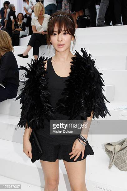 Song Hye Kyo attends the Chanel Ready to Wear Spring / Summer 2012 show during Paris Fashion Week at Grand Palais on October 4 2011 in Paris France