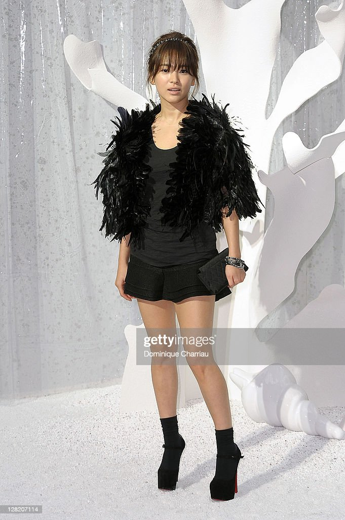 Song Hye Kyo attends the Chanel Ready to Wear Spring / Summer 2012 show during Paris Fashion Week at Grand Palais on October 4, 2011 in Paris, France.