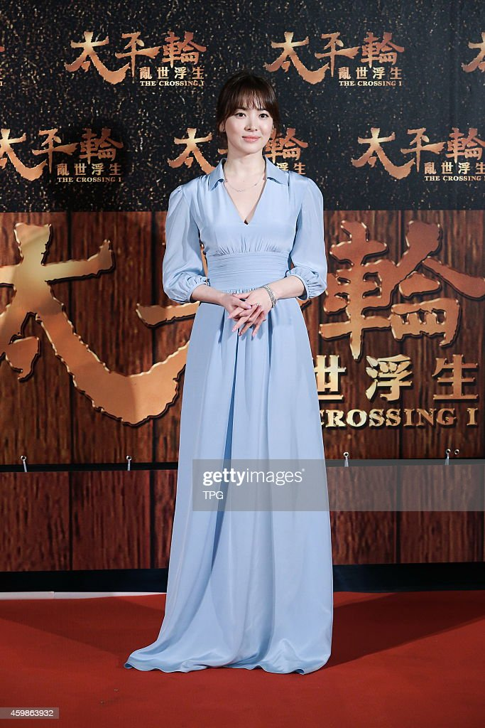 Song Hye Kyo attends the premiere of 'The Crossing' on 02th December 2014 in Taipei Taiwan China