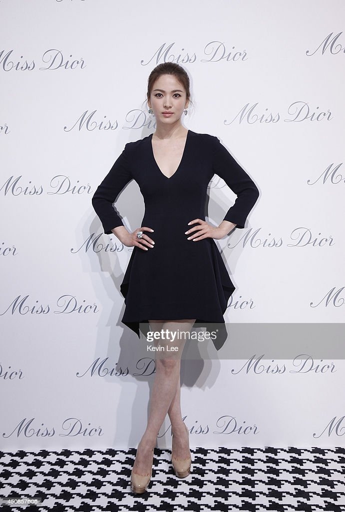 Song Hye Kyo poses for a picture at Miss Dior Exhibition on June 19, 2014 in Shanghai, China.