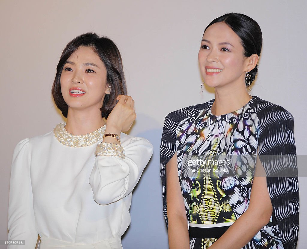 Song HyeKyo and Zhang Ziyi attend 2013 Chinese Film Festival Opening Ceremony at Yeouido CGV on June 16 2013 in Seoul South Korea