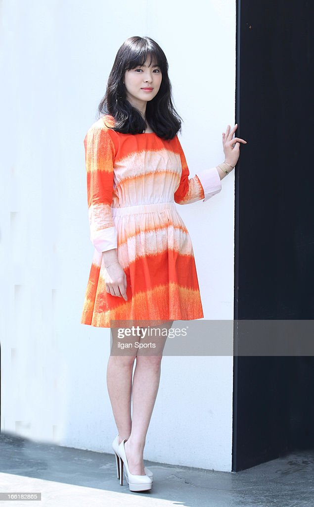 Song HyeKyo poses for photographs on April 3 2013 in Seoul South Korea