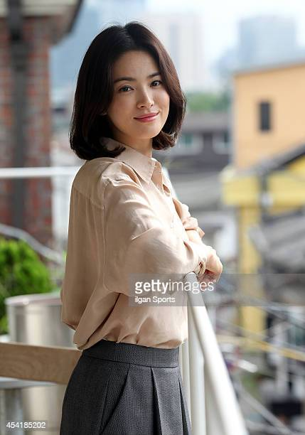 Song HyeKyo poses for photographs on August 25 2014 in Seoul South Korea