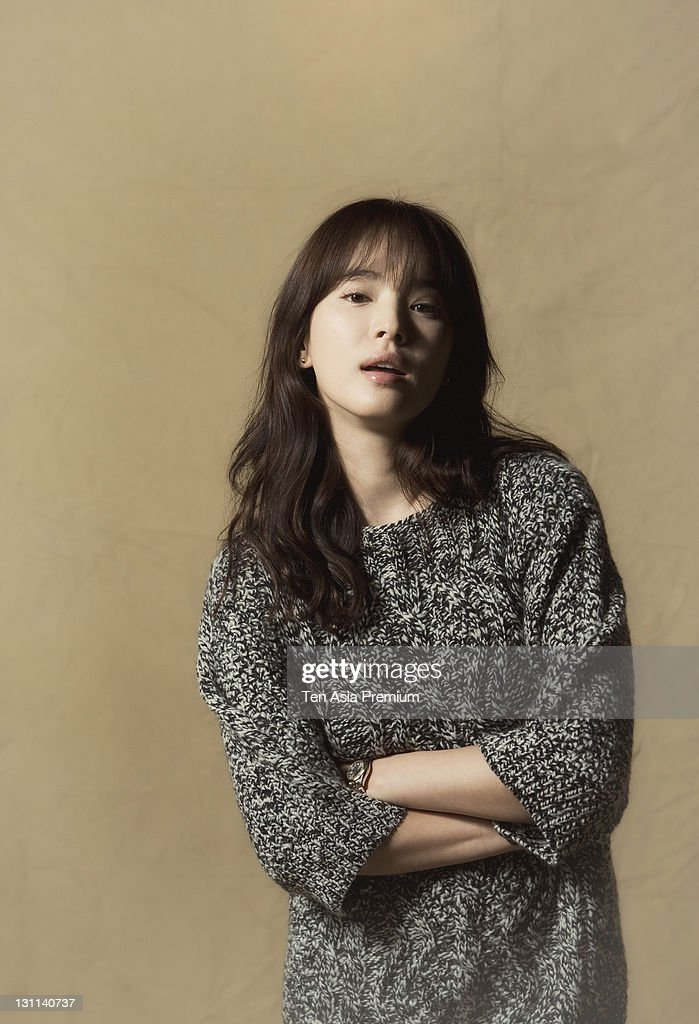 Song HyeKyo poses for photographs on October 24 2011 in Seoul South Korea
