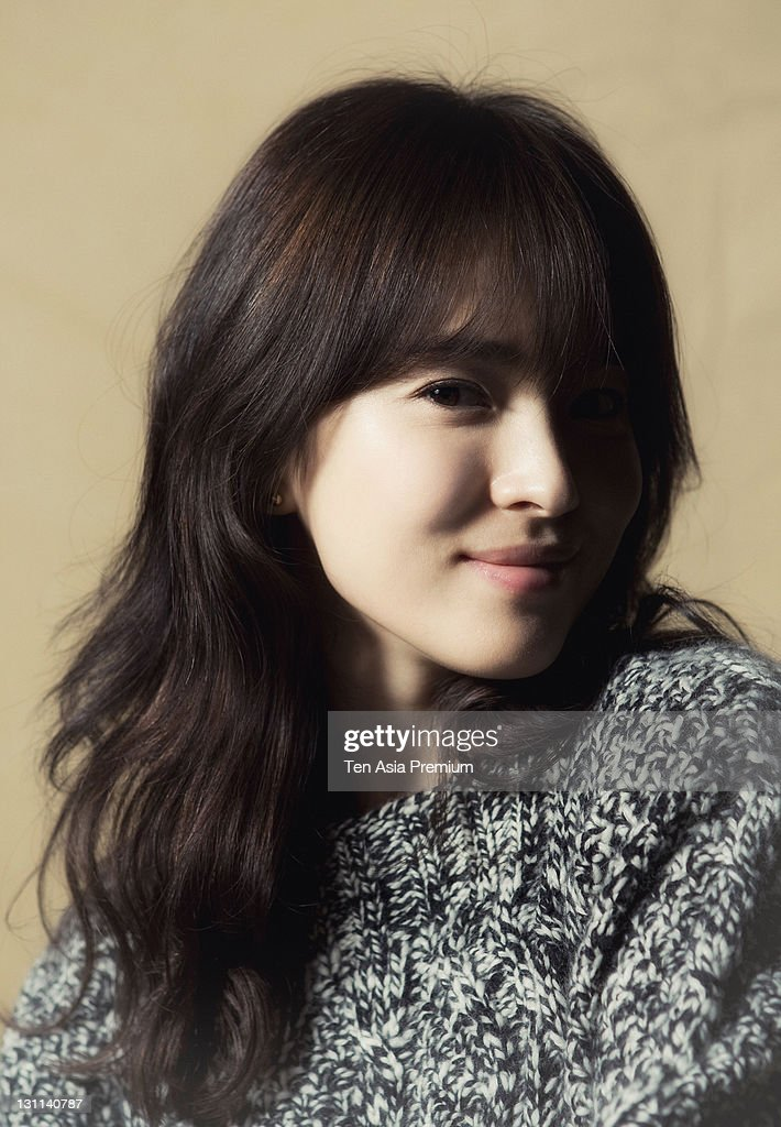 Song Hye-Kyo poses for photographs on October 24, 2011 in Seoul, South Korea.