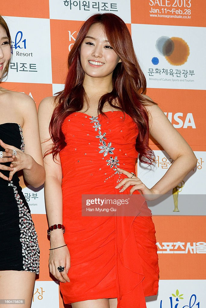 Song Ji-Eun of South Korean girl group Secret attends the 22nd High1 Seoul Music Awards at SK Handball Arena on January 31, 2013 in Seoul, South Korea.