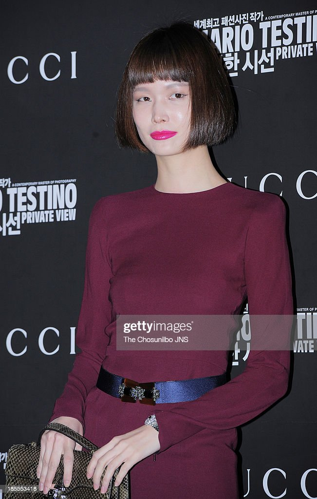 Song Kyung-Ah attends the 'Mario Testino: Private View' Photographic Exhibition Opening at GUCCI flagship store on October 18, 2013 in Seoul, South Korea.
