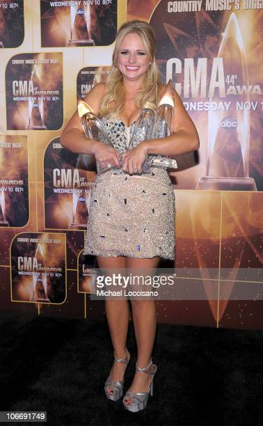 Song of the Year winner Album of the Year winner and Female Vocalist of the Year Miranda Lambert attends the 44th Annual CMA Awards at the...