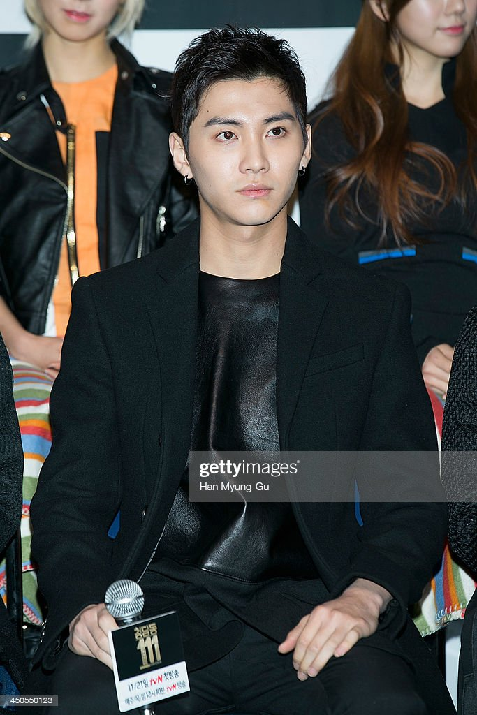 Song Seung-Hyun of South Korean boy band FTisland attends tvN Drama 'Cheongdamdong 111' press conference at CGV on November 18, 2013 in Seoul, South Korea. The drama will open on November 21, in South Korea.