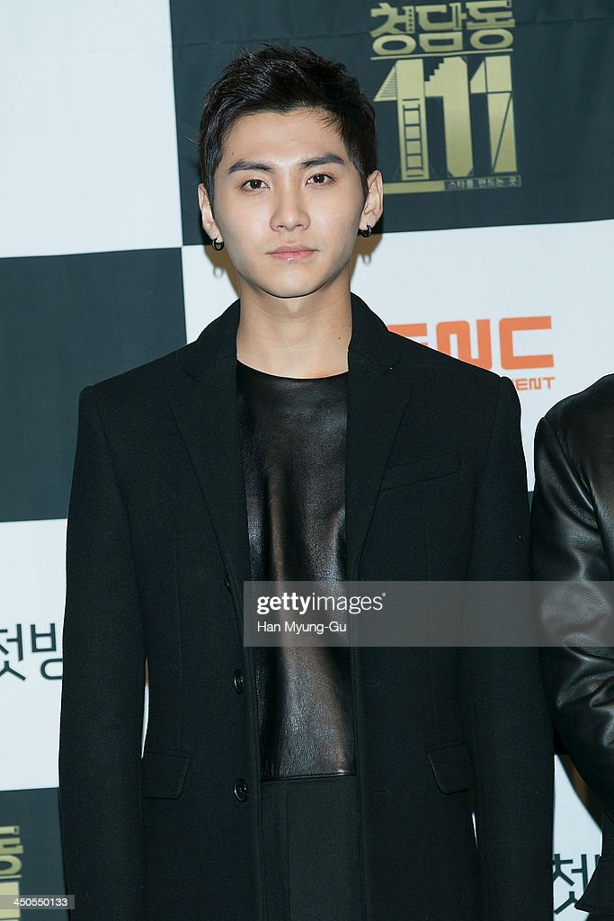 Song Seung-Hyun of South Korean boy band FTisland attends tvN Drama 'Cheongdamdong 111' press conference at CGV on November 18, 2013 in Seoul, South Korea. The drama will open on November 21, in South Korea.