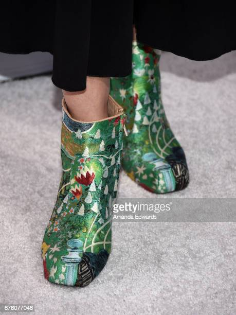 Songwriter Ali Tamposi shoe detail arrives at Variety's 1st Annual Hitmakers Luncheon at Sunset Tower on November 18 2017 in Los Angeles California