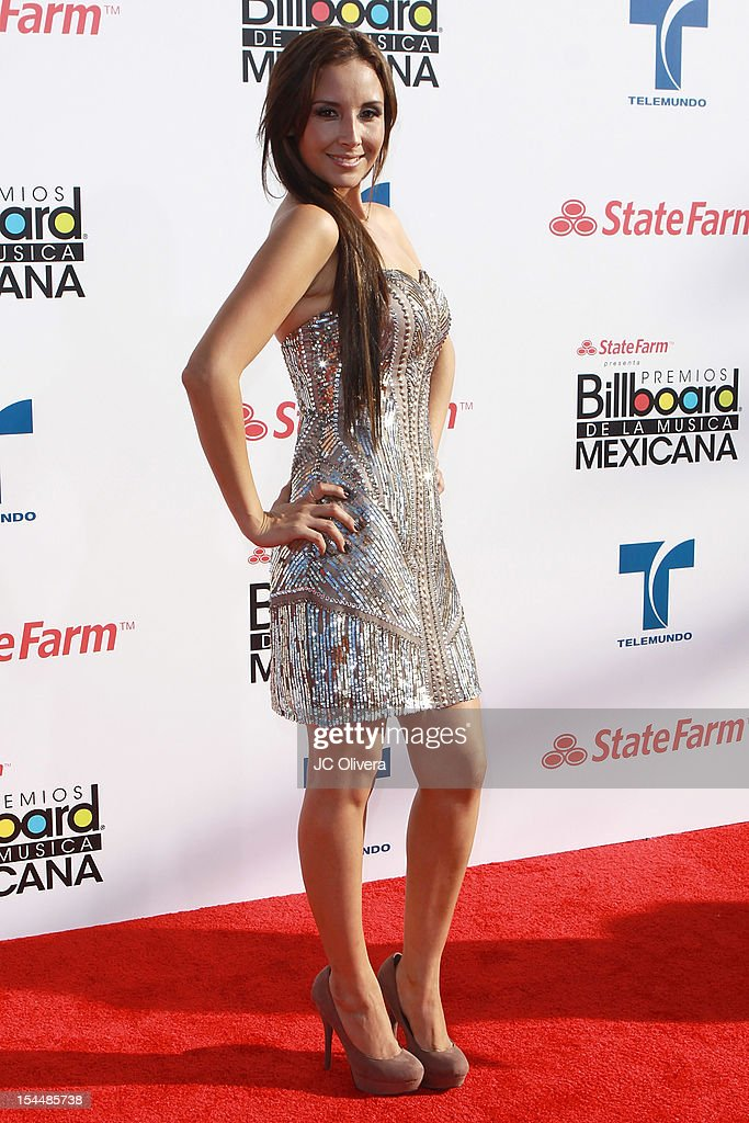 Songwriter America Sierra attends the 2012 Billboard Mexican Music Awards at The Shrine Auditorium on October 18, 2012 in Los Angeles, California.