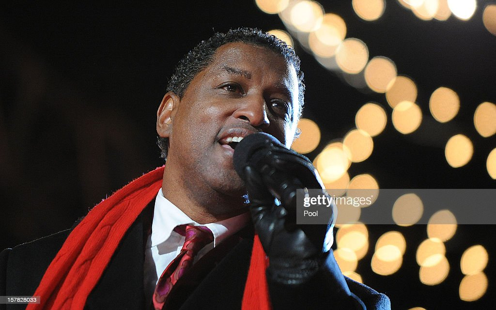 Songwriter and producer Kenny '<a gi-track='captionPersonalityLinkClicked' href=/galleries/search?phrase=Babyface&family=editorial&specificpeople=227435 ng-click='$event.stopPropagation()'>Babyface</a>' Edmonds performs at a concert during the 90th National Christmas Tree Lighting Ceremony on the Ellipse behind the White House on December 6, 2012 in Washington, DC. This year is the 90th annual National Christmas Tree Lighting Ceremony.