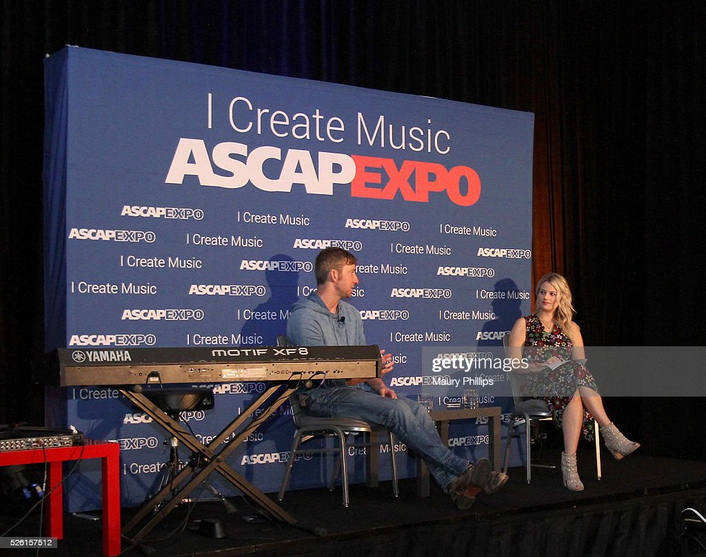 Songwriter <a gi-track='captionPersonalityLinkClicked' href=/galleries/search?phrase=Ashley+Gorley&family=editorial&specificpeople=6383339 ng-click='$event.stopPropagation()'>Ashley Gorley</a> (L) and ASCAP Creative Director Beth Brinker speak onstage during the 2016 ASCAP 'I Create Music' EXPO on April 29, 2016 in Los Angeles, California.