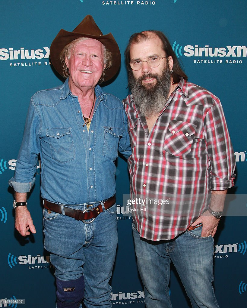 Songwriter <a gi-track='captionPersonalityLinkClicked' href=/galleries/search?phrase=Billy+Joe+Shaver&family=editorial&specificpeople=4304976 ng-click='$event.stopPropagation()'>Billy Joe Shaver</a> is interviewed by <a gi-track='captionPersonalityLinkClicked' href=/galleries/search?phrase=Steve+Earle&family=editorial&specificpeople=214591 ng-click='$event.stopPropagation()'>Steve Earle</a> for 'The <a gi-track='captionPersonalityLinkClicked' href=/galleries/search?phrase=Steve+Earle&family=editorial&specificpeople=214591 ng-click='$event.stopPropagation()'>Steve Earle</a> Show: Hardcore Troubadour Radio' on SiriusXM's 'Outlaw Country' at the SiriusXM Studios on December 5, 2012 in New York City.
