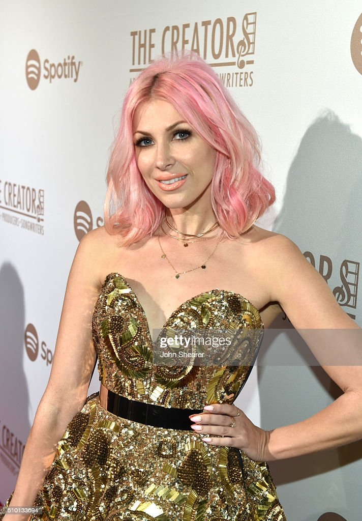 Songwriter Bonnie McKee arrives The Creators Party Presented by Spotify Cicada Los Angeles at Cicada on February 13 2016 in Los Angeles California