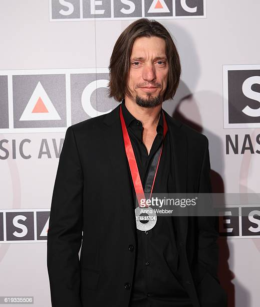 Songwriter Brad Warren arrives to the 2016 SESAC Nashville awards at the Country Music Hall of Fame and Museum on October 30 2016 in Nashville...