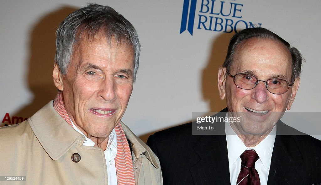 Songwriter Burt Bacharach (L) and lyricist Hal David attend 'Love, Sweet Love' musical tribute to Hal David at Mark Taper Forum on October 17, 2011 in Los Angeles, California.