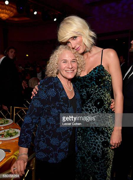 Songwriter Carole King and honoree Taylor Swift attend The 64th Annual BMI Pop Awards honoring Taylor Swift and songwriting duo Mann Weil at the...