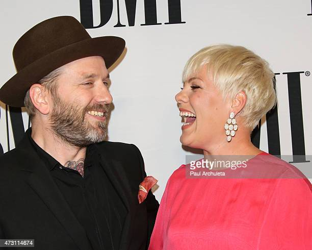 Songwriter Dallas Green and Recording Artist Pnk attend the 63rd annual BMI Pop Awards at the Regent Beverly Wilshire Hotel on May 12 2015 in Beverly...