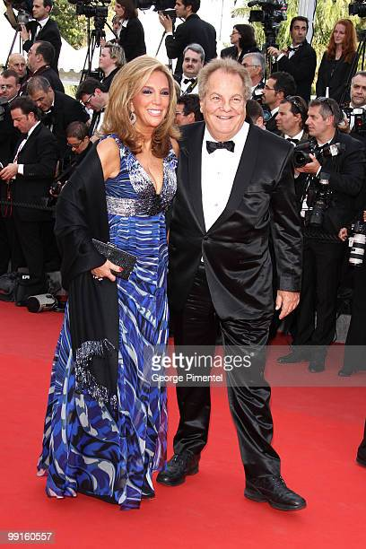 Songwriter Denise Rich and Massimo Gargia attend the Opening Night Premiere of 'Robin Hood' at the Palais des Festivals during the 63rd Annual...