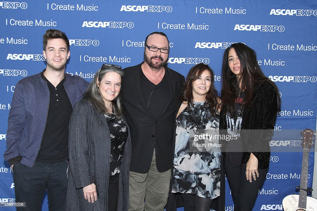 Songwriter Desmond Child (C) and EXPO guests attend the 2016 ASCAP 'I Create Music' EXPO on April 30, 2016 in Los Angeles, California.