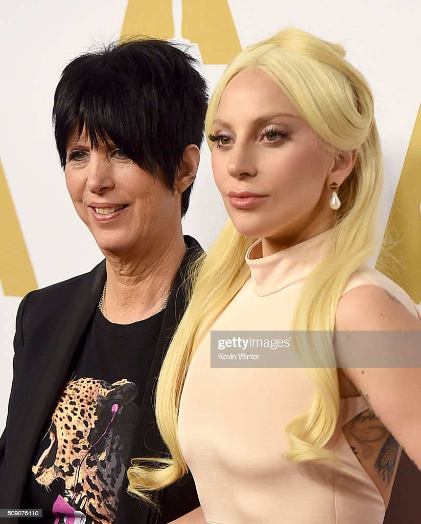 Songwriter <a gi-track='captionPersonalityLinkClicked' href=/galleries/search?phrase=Diane+Warren&family=editorial&specificpeople=234753 ng-click='$event.stopPropagation()'>Diane Warren</a> (L) and singer-songwriter <a gi-track='captionPersonalityLinkClicked' href=/galleries/search?phrase=Lady+Gaga&family=editorial&specificpeople=4456754 ng-click='$event.stopPropagation()'>Lady Gaga</a> attend the 88th Annual Academy Awards nominee luncheon on February 8, 2016 in Beverly Hills, California.