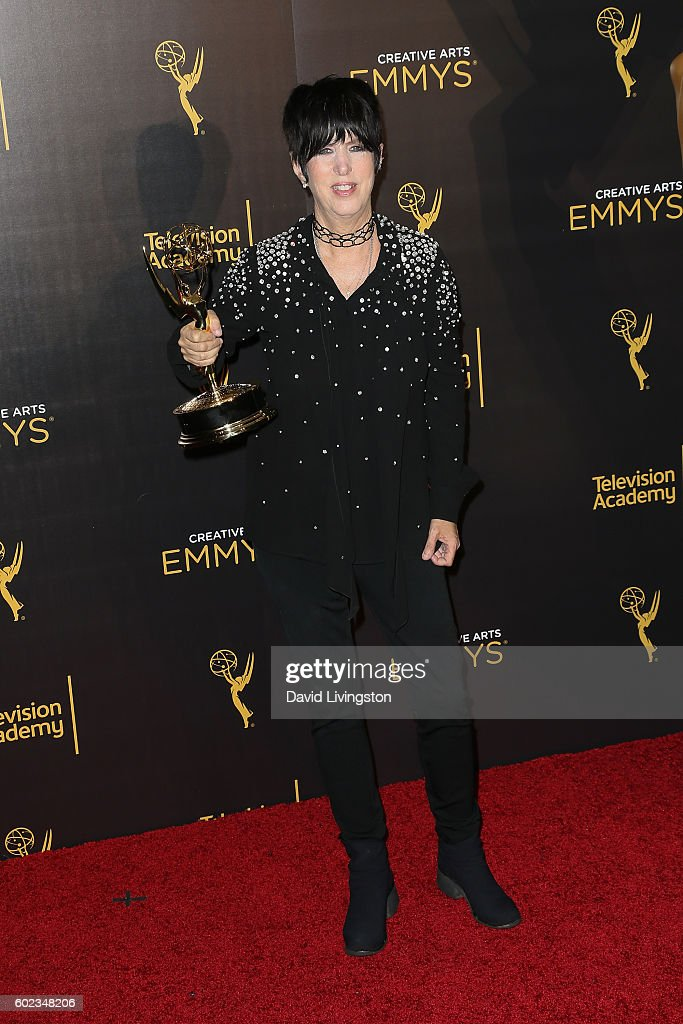 Songwriter Diane Warren attends the 2016 Creative Arts Emmy Awards Press Room Day 1 at the Microsoft Theater on September 10, 2016 in Los Angeles, California.