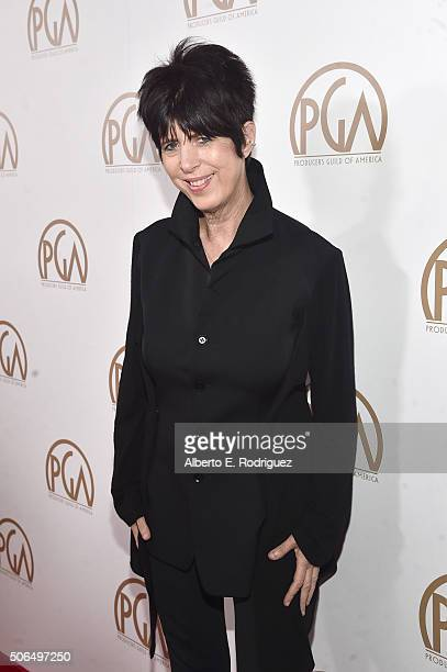 Songwriter Diane Warren attends the 27th Annual Producers Guild Of America Awards at the Hyatt Regency Century Plaza on January 23 2016 in Century...