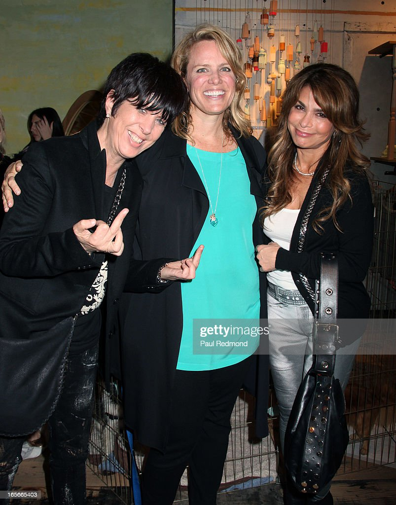 Songwriter Diane Warren, author/producer Lisa Erspamer and singer Paula Abdul attend 'A Letter To My Dog: Notes To Our Best Friends' cocktail party and book signing at Anthropologie on April 4, 2013 in Beverly Hills, California.