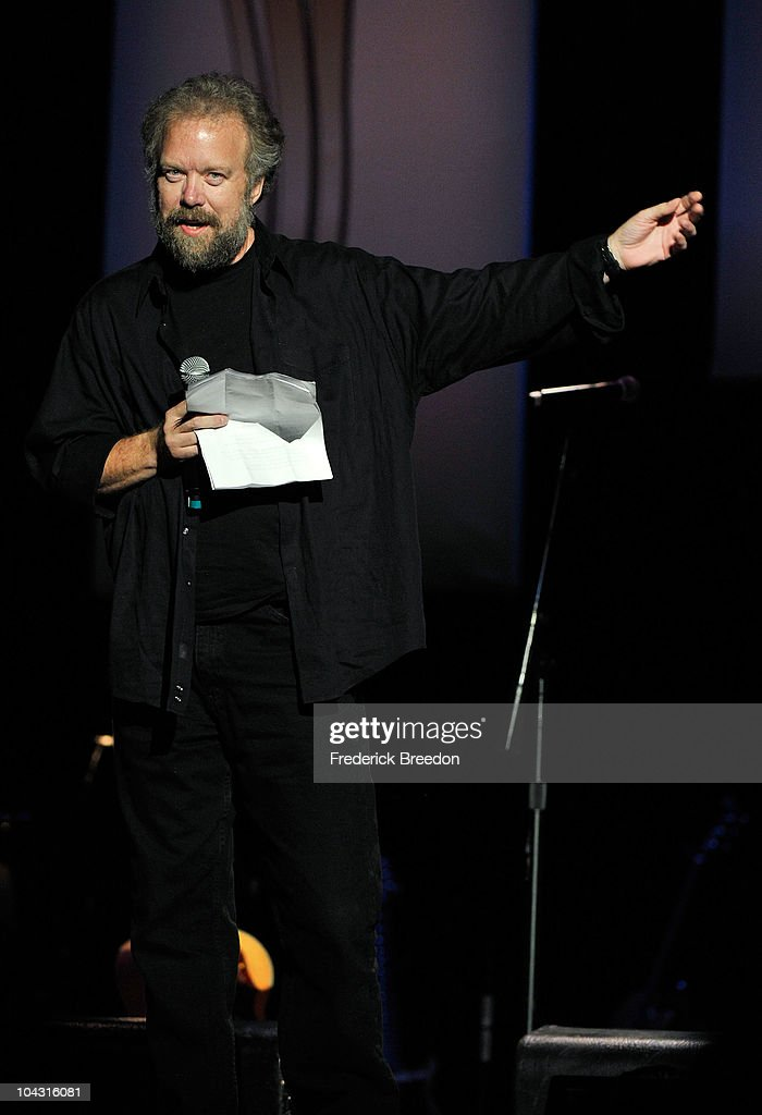 Songwriter Don Schlitz accepts the Poet's Award during the 4th Annual ACM Honors at the Ryman Auditorium on September 20, 2010 in Nashville, Tennessee.
