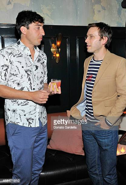 Songwriter Ed Droste and designer Scott Sternberg attends the private dinner to celebrate Scott Sternberg and 10 Years of Band of Outsiders hosted by...