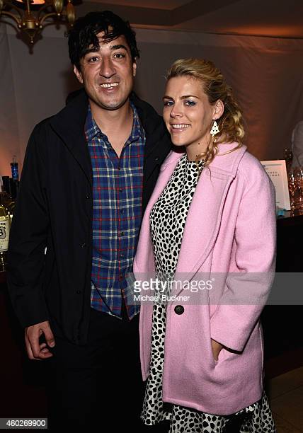 Songwriter Ed Droste of Grizzly Bear and actress Busy Philipps attend Refinery29 Los Angeles Holiday Party Hosted By R29 EditorAtLarge Drew Barrymore...