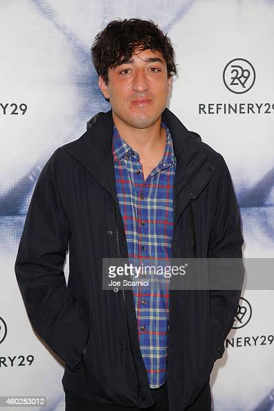 Songwriter Ed Droste of Grizzly Bear arrives at Refinery29 Holiday Party at Sunset Tower Hotel on December 10 2014 in West Hollywood California