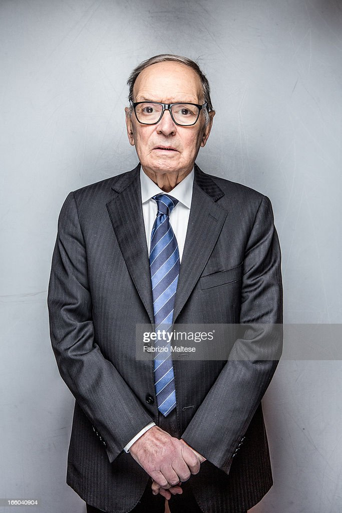 Songwriter <a gi-track='captionPersonalityLinkClicked' href=/galleries/search?phrase=Ennio+Morricone&family=editorial&specificpeople=677347 ng-click='$event.stopPropagation()'>Ennio Morricone</a> is photographed for Self Assignment on February 12, 2013 in Berlin, Germany.