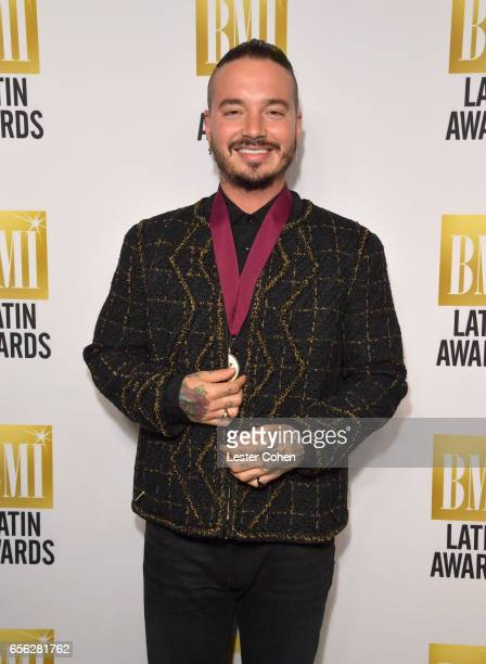 Songwriter J Balvin attends the 24th Annual BMI Latin Awards at the Beverly Wilshire Four Seasons Hotel on March 21 2017 in Beverly Hills California