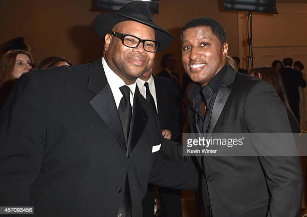 Songwriter Jimmy Jam and Kenny 'Babyface' Edmonds attend the 2014 Carousel of Hope Ball presented by MercedesBenz at The Beverly Hilton Hotel on...