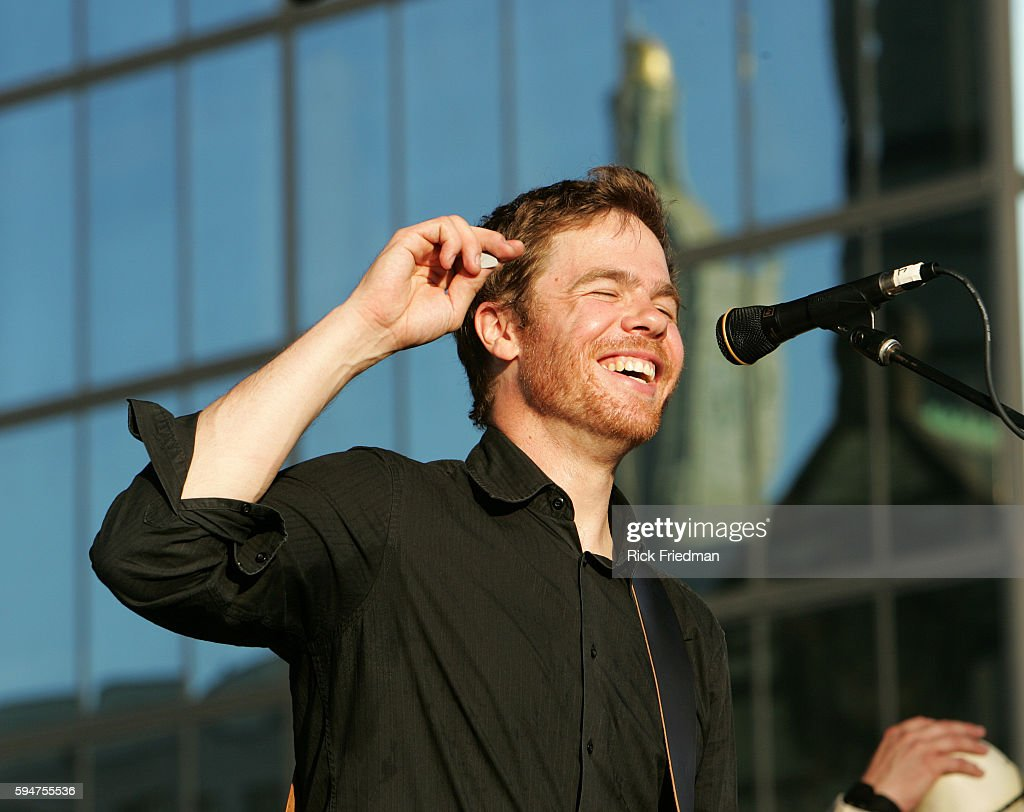Songwriter Josh Ritter performs in support of his most recent album 'The Animal Years' at an open air concert in Copley Squre in Boston MA